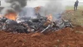 مسلحون تدعمهم تركيا أسقطوا هليكوبتر تابعة للقوات السورية في إدلب