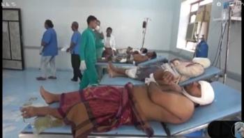 الحديدة : مقتل وإصابة  12 مدنياً نتيجة انفجار عبوة ناسفة قرب الخوخة
