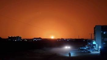 مأرب : الشركة اليمنية للغاز توضح ملابسات حريق مقطورات الغاز