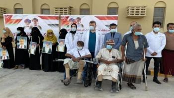 عمان : وصول الدفعة السادسة من جرحى تعز إلى صلالة لتركيب أطراف صناعية
