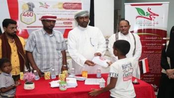 """الوكيل الأول يدشن بمؤسسة فينا خير مشروع كسوة العيد ل""""460"""" من الأيتام والمعاقين بمحافظة المهرة"""
