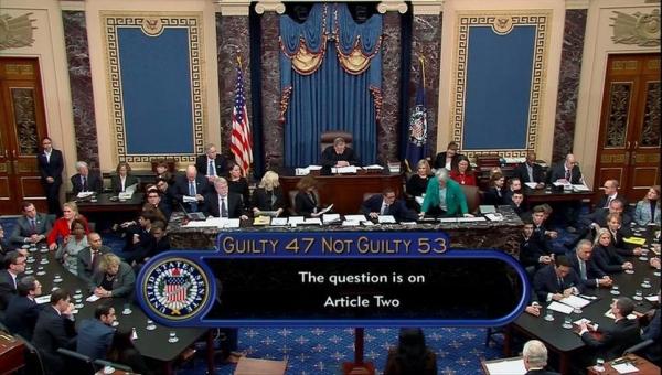 مجلس الشيوخ الأمريكي يبرئ ترامب في تصويت تاريخي