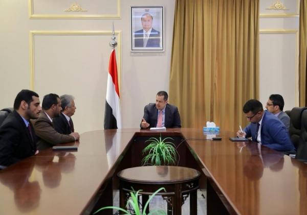 رئيس الوزراء المكلف يستقبل ممثلي مؤتمر حضرموت الجامع لاستكمال مشاورات تشكيل الحكومة الجديدة