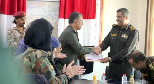 شرطة وأمن المهرة تنظم احتفالية تكريمية وتوديعية للعميد الجابري بمناسبة انتهاء عمله نائبا لمدير عام شرطة المحافظة