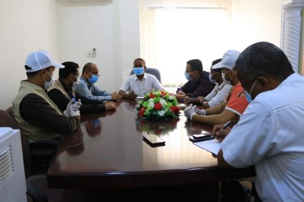 مدير عام الصحة بالمهرة يلتقي فريق من برنامج الغذاء العالمي