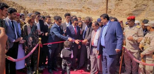 برعاية رئيس الجمهورية بن عديو يفتتح ميناء قنا النفطي ويؤكد أن الميناء سيشكل إضافة للموانئ اليمنية