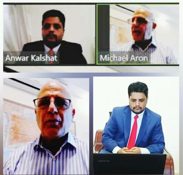 وزير الكهرباء كلشات يجري مقابلة (افتراضية) مع السفير البريطاني لدى اليمن