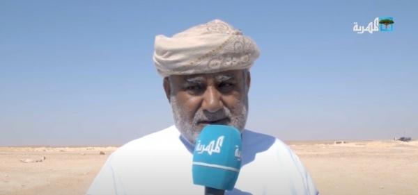 المهرة : الشيخ الحريزي يزور مركز الفرط الأمني في مديرية منعر