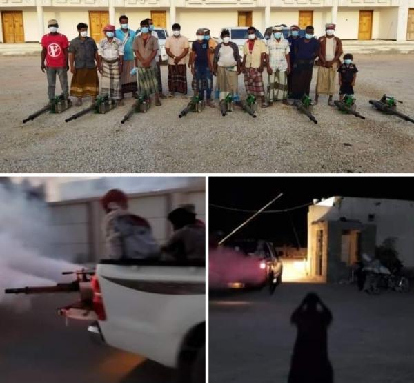 مكاتب الصحة والسكان بمديريات حصوين وحات ومنعر تدشن حملة الرش الضبابي لمكافحة البعوض الناقل للحميات