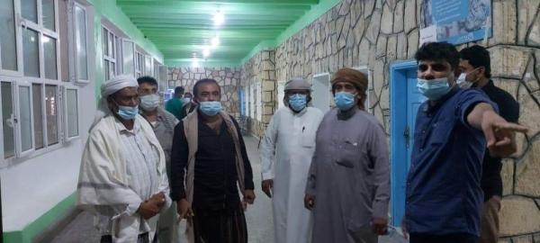 مدير عام مديرية قشن يدشن استلام معدات طبية خاصة بمواجهة وباء كرونا