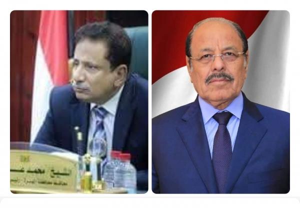 نائب رئيس الجمهورية يجري اتصالاً هاتفياً بمحافظ محافظة المهرة