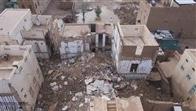 حضرموت.. سيول الأمطار تدمر عدداً من المنازل في تريم بلغت إلى 186 منزلاً