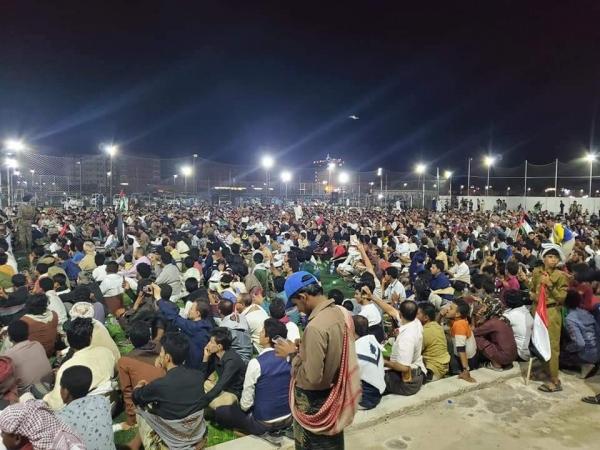شبوة : مهرجان جماهيري حاشد تضامناً مع صمود الشعب الفلسطيني