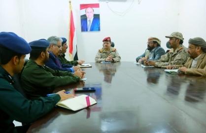 مأرب : اللجنة الأمنية العليا تعقد اجتماعا بمأرب برئاسة وزير الدفاع وحضور وزير الداخلية