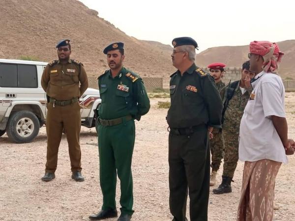 نائب مدير الأمن والشرطة في زيارة تفقدية لإدارة أمن مديرية منعر