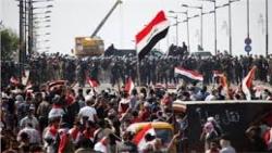 العراقيون يتدفقون على الشوارع في أكبر احتجاج منذ سقوط صدام