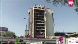 مبنى مهجور يصبح مركزا للانتفاضة في العراق