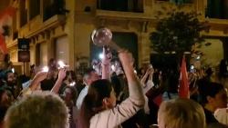 """متظاهرون يرفضون تولي """"الصفدي"""" رئاسة الحكومة اللبنانية المقبلة"""