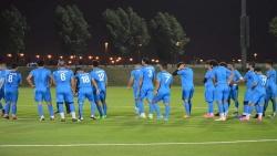 """منتخب اليمن يجري تمرينه الأول في الدوحة استعداد لـ""""خليجي 24"""""""