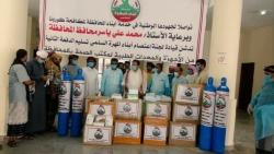 لجنة اعتصام المهرة تقدم عددا من المعدات والأجهزة الطبية لمكتب الصحة بالمحافظة لمواجهة كورونا