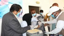 الغيضة.. أمين عام  محلي المهرة يدشن الحملة الوطنية للتحصين ضد مرض الدفتيريا