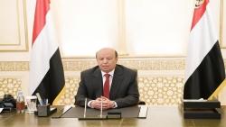 رئيس الجمهورية يدعو لاستنفار دولي لمساندة اليمن واليمنيين وإنهاء انقلاب الحوثي وقضية صافر