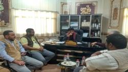 """مدير عام مكتب الزراعة بالمهرة يلتقي بفريق من وكالة المنشآت الصغيرة والأصغر """"smeps"""""""