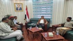 المهرة .. المحافظ يطّلع على نتائج زيارة مكتب الشؤون الاجتماعية والعمل إلى مدينة عدن