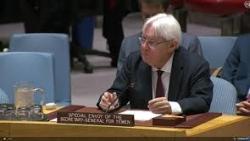 غريفيث يعرب عن أسفه لعدم التوصل لاتفاق لوقف إطلاق النار في اليمن