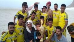 سقطرى : نادي الأبطال يتوج بطلاً والفرسان وصيفاً في بطولة الهلال قلنسية لكرة القدم الشاطئية