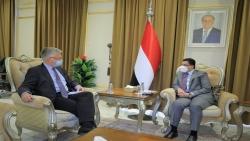 بن مبارك يناقش مع المبعوث السويدي تطورات الأوضاع في اليمن