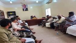 المهرة : تنفيذي حصوين يعقد اجتماعه الاعتيادي، برئاسة مدير عام المديرية