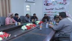 المهرة : المنظمة الشبابية في المجلس العام تعقد اجتماعاً لمناقشة التحضيرات  لحفل ذكرى الـ14 من ثورة أكتوبر المجيدة